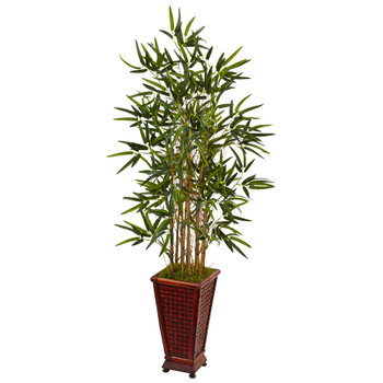 4.5 Bamboo Tree in Decorative Planter - SKU #5807