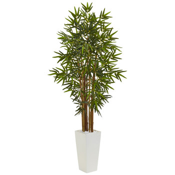 5 Bamboo Tree in White Tower Planter - SKU #5812