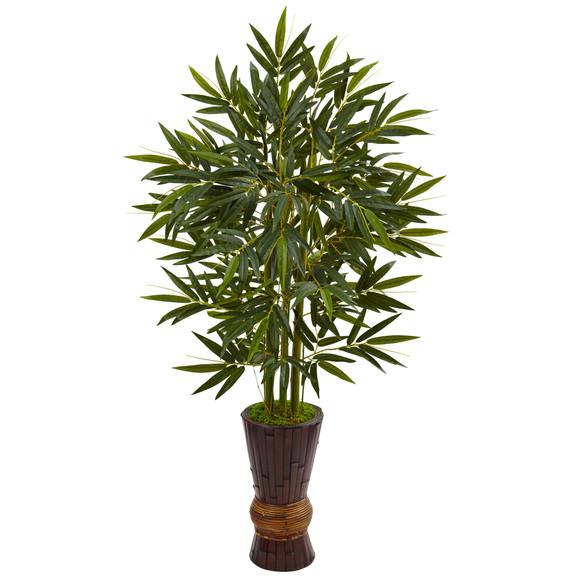 5 Bamboo Tree in Bamboo Planter - SKU #5823