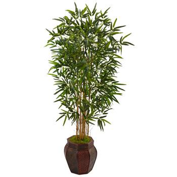 5 Bamboo Tree in Weave Design Planter - SKU #5825