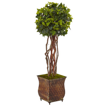 30 English Ivy Tree in Planter UV Resistant Indoor/Outdoor - SKU #5838