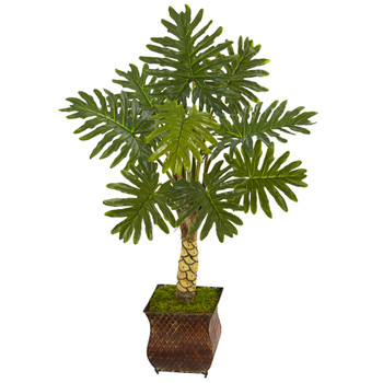 4.5 Monstera Artificial Tree in Metal Planter - SKU #5863