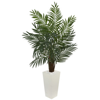 5.5 Areca Artificial Palm Tree in White Tower Planter - SKU #5871