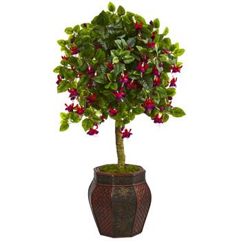 44 Fuschia Artificial Tree in Decorative Planter - SKU #5895