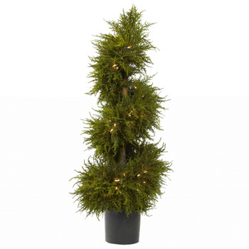43 Cedar Spiral Topiary w/Lights - SKU #5915