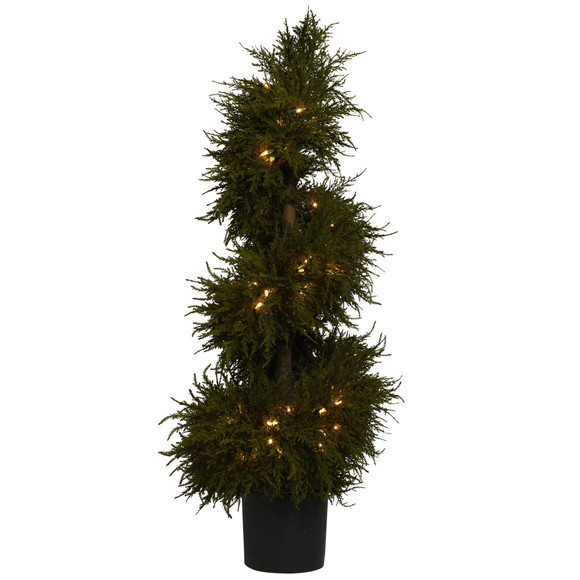 43 Cedar Spiral Topiary w/Lights - SKU #5915 - 1