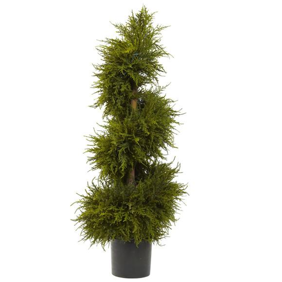 43 Cedar Spiral Topiary w/Lights - SKU #5915 - 2