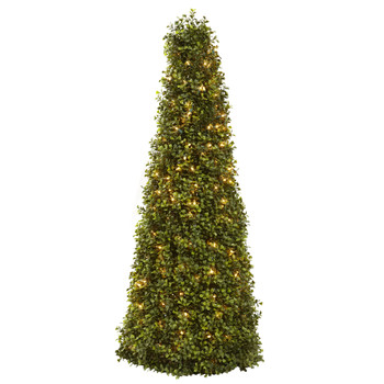 39 Boxwood Cone w/Lights - SKU #5921