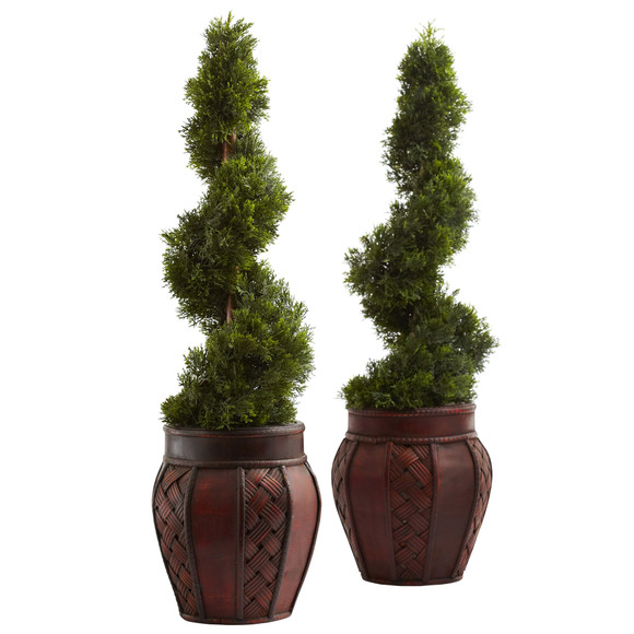 Cedar Spiral w/Decorative Planter - SKU #5926 - 1