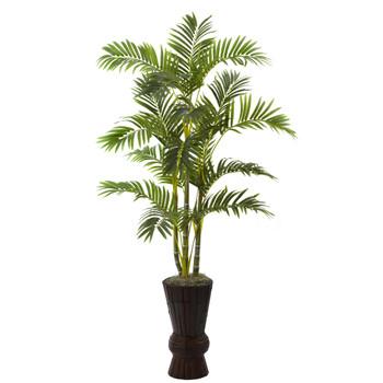 62 Areca Tree w/Decorative Planter - SKU #5927
