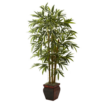 5.5 Bamboo w/Decorative Planter - SKU #5928