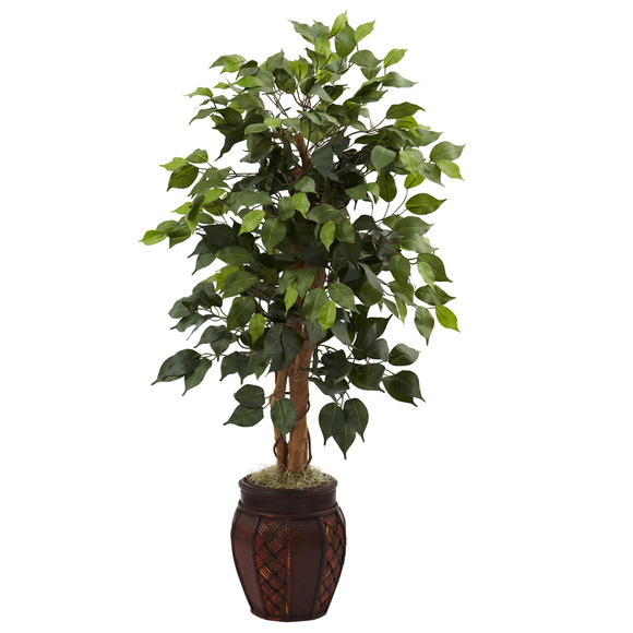 44 Ficus Tree w/Decorative Planter - SKU #5929