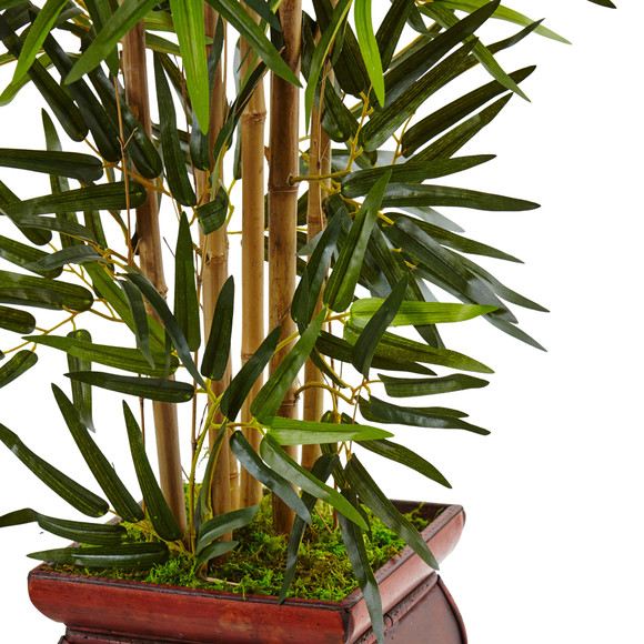 3.5 Bamboo Tree in Wooden Decorative Planter - SKU #5933 - 1