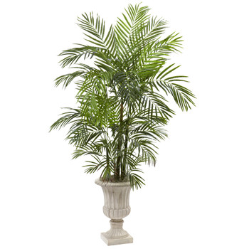 6 Areca Palm Artificial Tree in Urn UV Resistant Indoor/Outdoor - SKU #5936