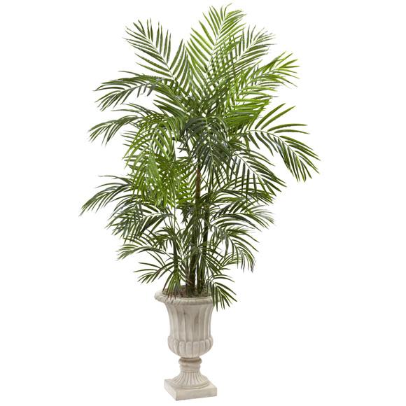 6 Areca Palm Artificial Tree in Urn UV Resistant Indoor/Outdoor - SKU #5936