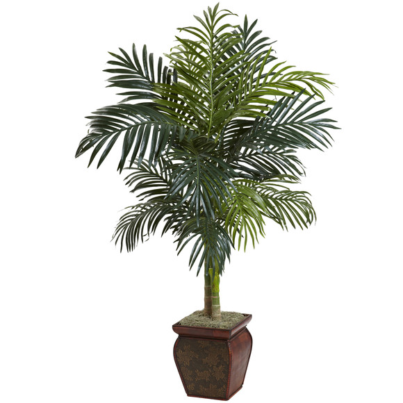 4.5 Golden Cane Palm w/Decorative Container - SKU #5937