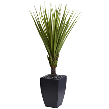65 Spiky Agave Artificial Tree in Black Planter - SKU #5940