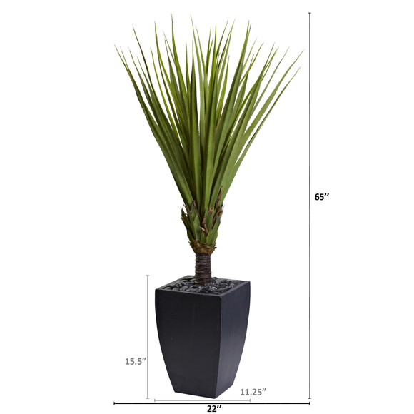 65 Spiky Agave Artificial Tree in Black Planter - SKU #5940 - 1