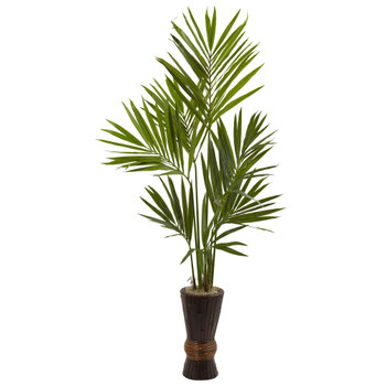 6 Kentia Tree w/Bamboo Planter - SKU #5942