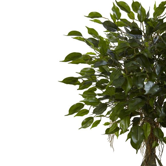 Ficus Tree with White Planter UV Resistant Indoor/Outdoor - SKU #5952 - 1