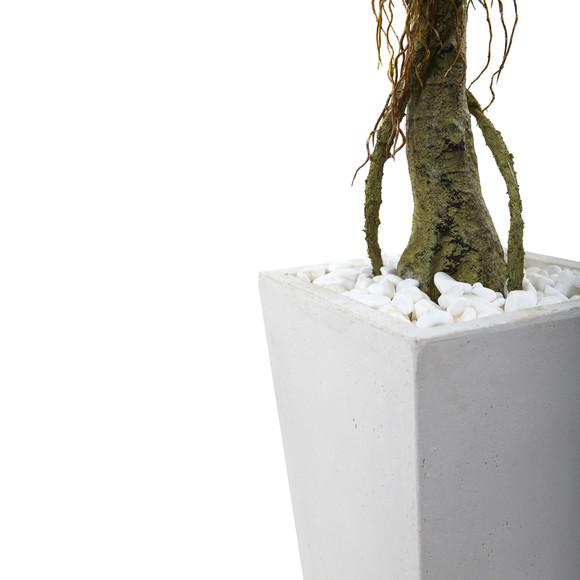 Ficus Tree with White Planter UV Resistant Indoor/Outdoor - SKU #5952 - 2