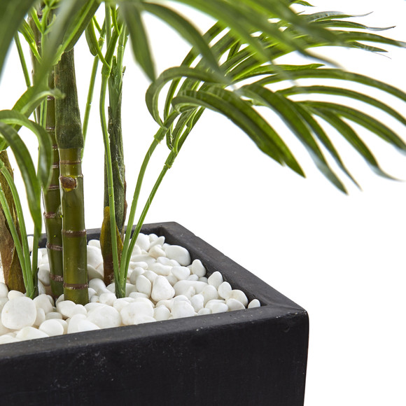 4 5 Areca Palm Tree With Black Wash Planter Uv Resistant