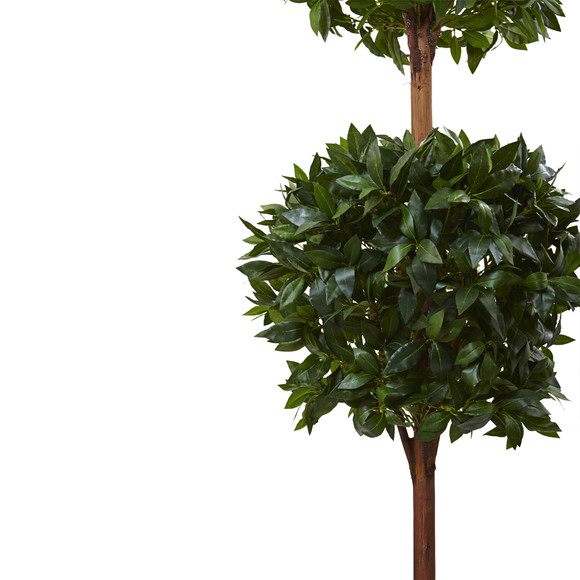 6 Double Ball Topiary Tree with European Barrel Planter - SKU #5958 - 1
