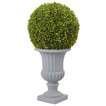 2.5 Boxwood Topiary with Urn Indoor/Outdoor - SKU #5965