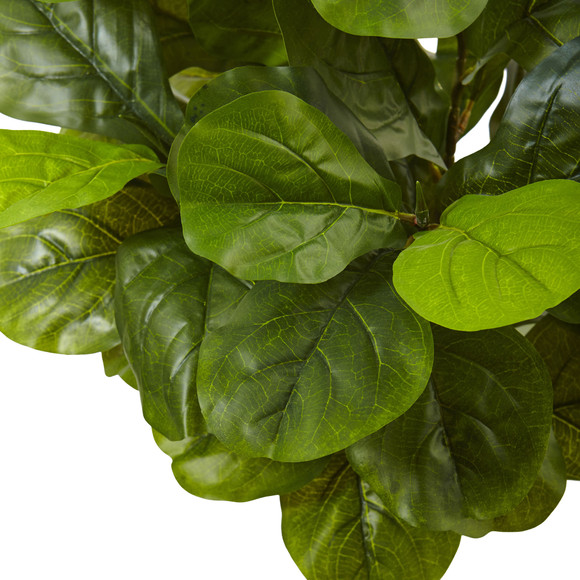 4.5 Fiddle Leaf Fig in White Planter Real Touch - SKU #5966 - 2