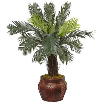 3.5 Cycas Tree in Wood Planter - SKU #5970