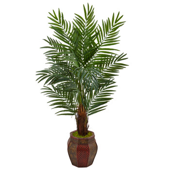 5 Areca Palm Tree in Weave Planter - SKU #5971