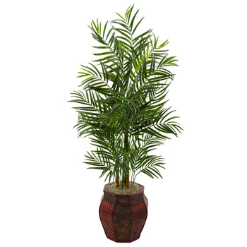 4.5 Areca Palm Tree in Weave Planter - SKU #5981