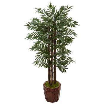 4.5 Parlour Palm Tree in Bamboo Planter - SKU #5991