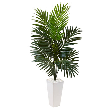 4.5 Kentia Palm Tree in White Tower Planter - SKU #5996