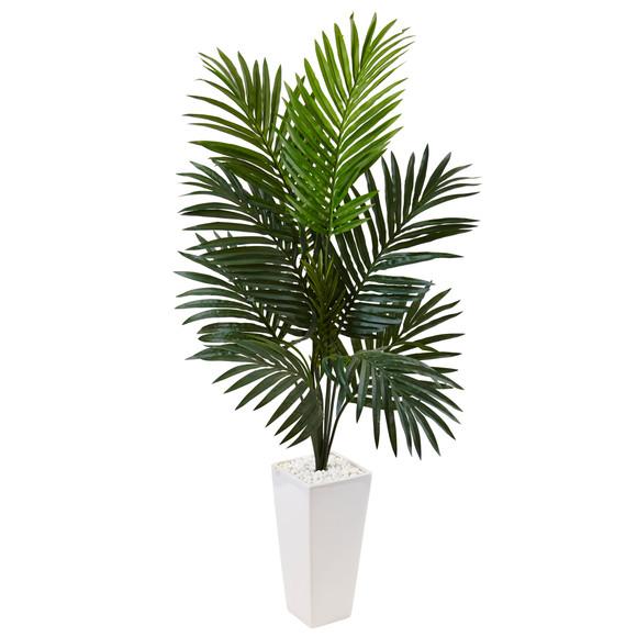 4.5 Kentia Palm Tree in White Tower Planter - SKU #5996