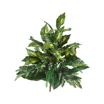 25 Mixed Greens Artificial Plant Set of 2 - SKU #6038-S2