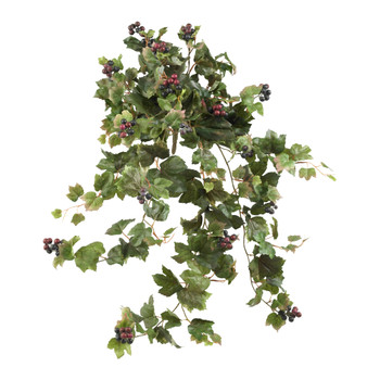 24 Grape Leaf Hanging Artificial Plant Set of 2 - SKU #6058-S2