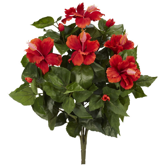 20 Hibiscus Artificial Plant Set of 4 - SKU #6065-S4