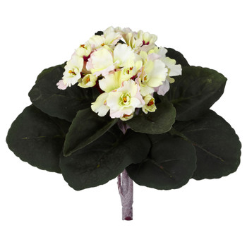 9 African Violet Artificial Plant Set of 6 - SKU #6068-S6-CP