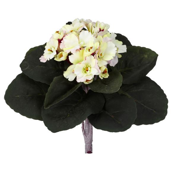 9 African Violet Artificial Plant Set of 6 - SKU #6068-S6 - 1