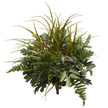 28 Mix Greens Artificial Plant Set of 2 - SKU #6084-S2