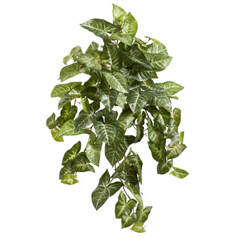 34 Nepthytis Hanging Artificial Plant Set of 3 - SKU #6101-S3