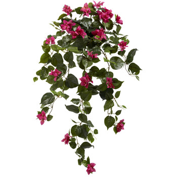 37 Bougainvillea Hanging Artificial Plant Set of 2 - SKU #6102-S2