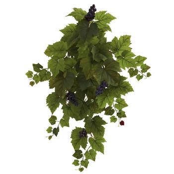 31 Grape Hanging Leaf Artificial Plant Set of 2 - SKU #6114-S2