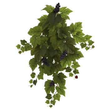 31 Grape Hanging Leaf Artificial Plant Set of 2 - SKU #6114-S2