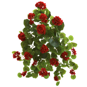 26 Geranium Artificial Plant Set of 2 - SKU #6127-S2