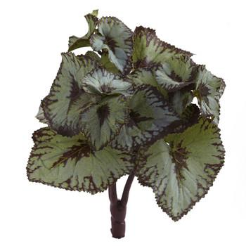 Rex Begonia Artificial Bush Set of 12 - SKU #6129-S12