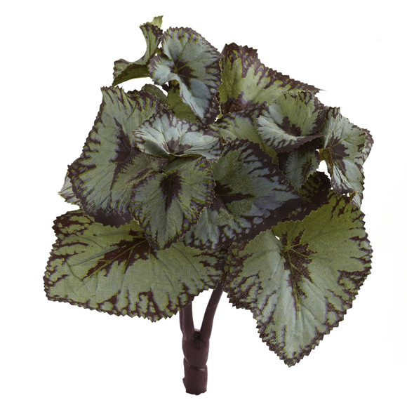 Rex Begonia Artificial Bush Set of 12 - SKU #6129-S12
