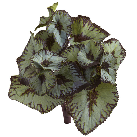 Rex Begonia Artificial Bush Set of 12 - SKU #6129-S12 - 2
