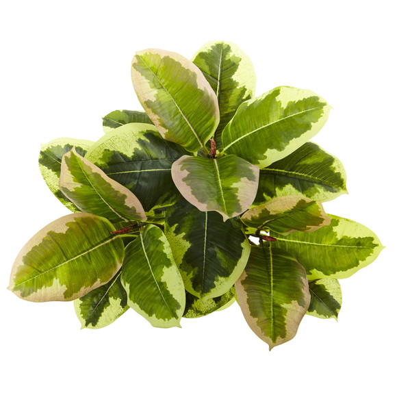 23 Rubber Leaf Artificial Plant Real Touch Set of 3 - SKU #6148-S3 - 1